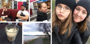 Fika på Smökransen och mysig promenad längst Österskärs havsbad
