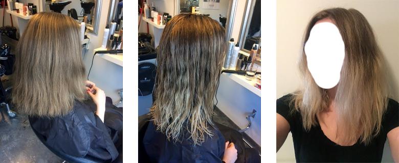 Från brunett till lila hår